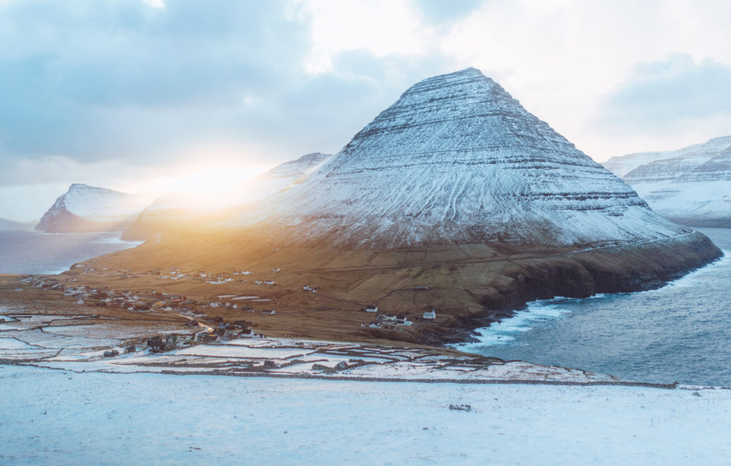 Faerské ostrovy - dedinka Vidareidi