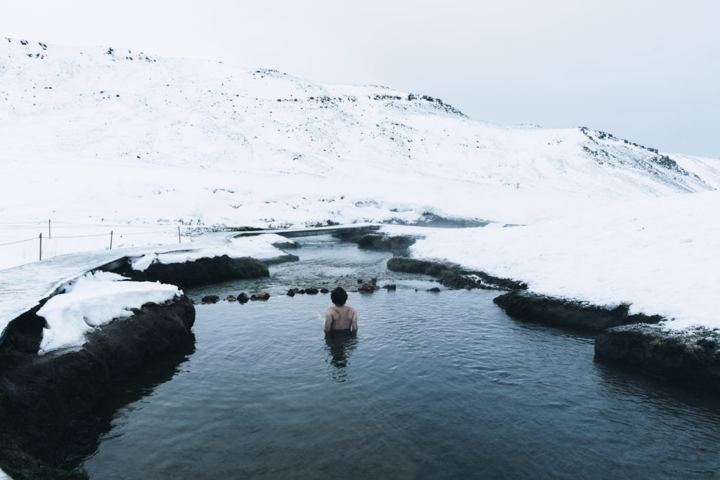 Termálna rieka Reykjadalur