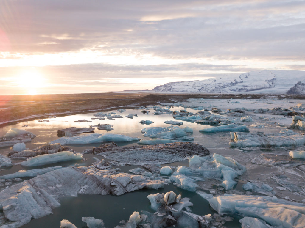 Ľadovcová lagúna Jokullsarlón