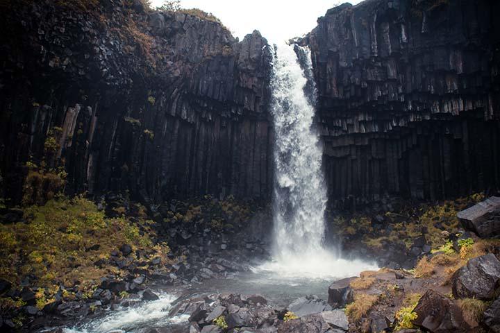 Island: vodopád