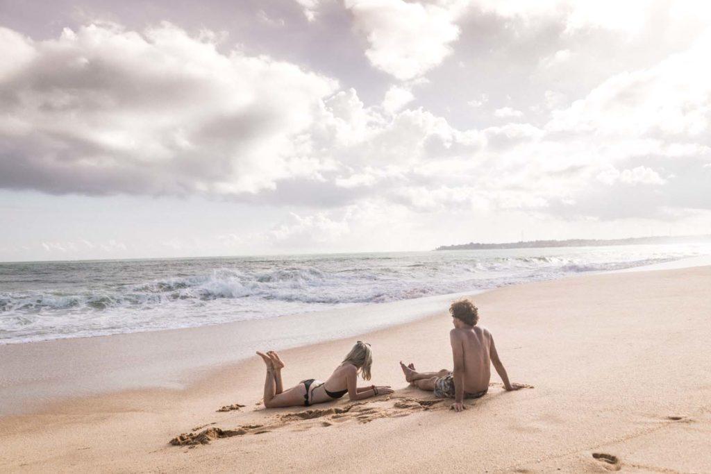Opustená pláž na Srí Lanke