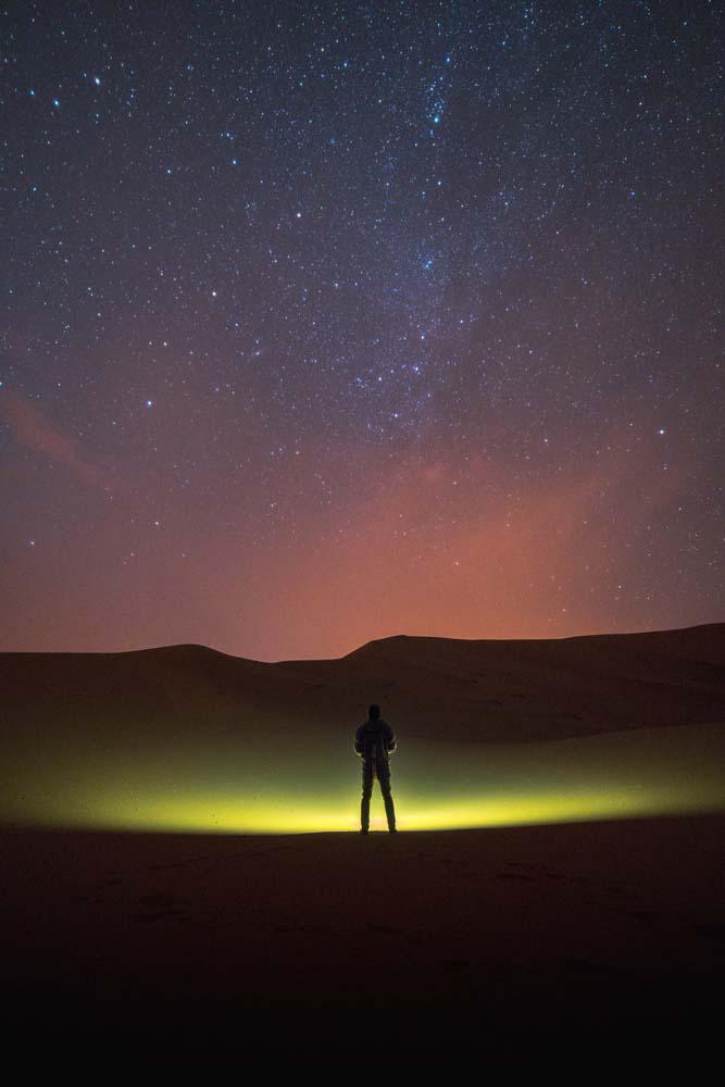 Rozprávková obloha v púšti
