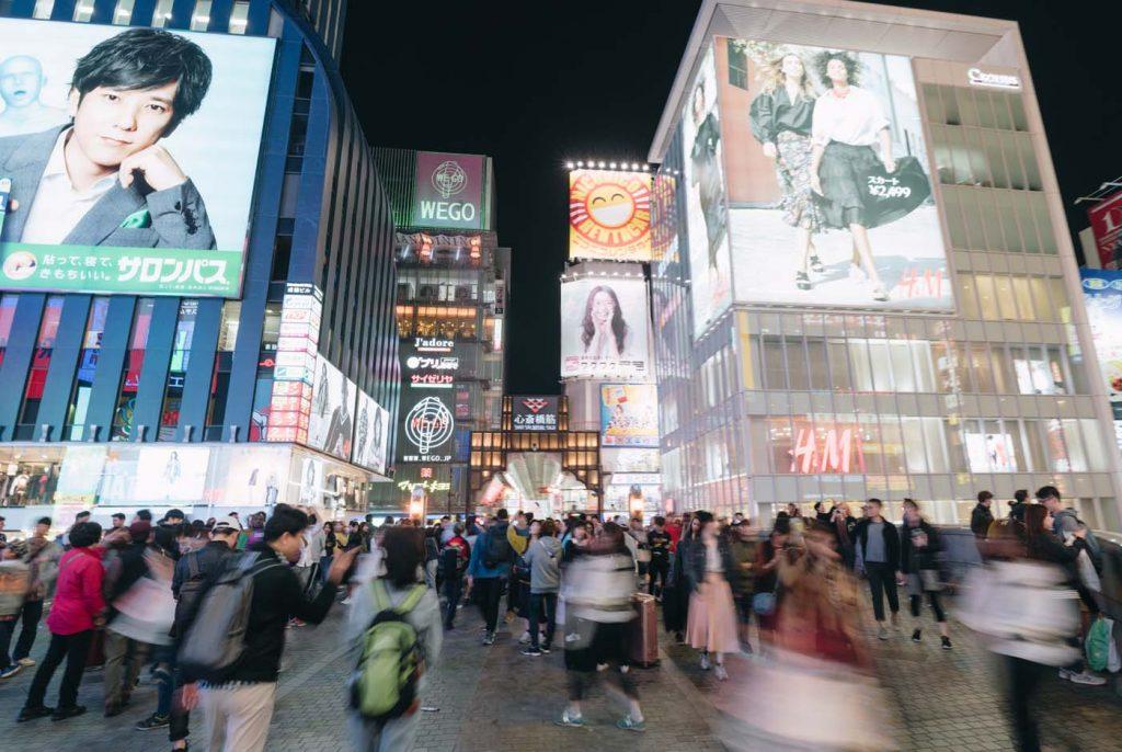 Ulica Dotonbori v Osake