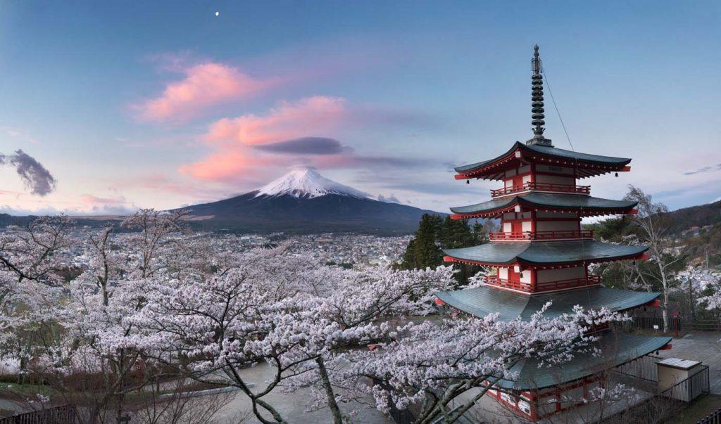 Vrchol hory Fuji