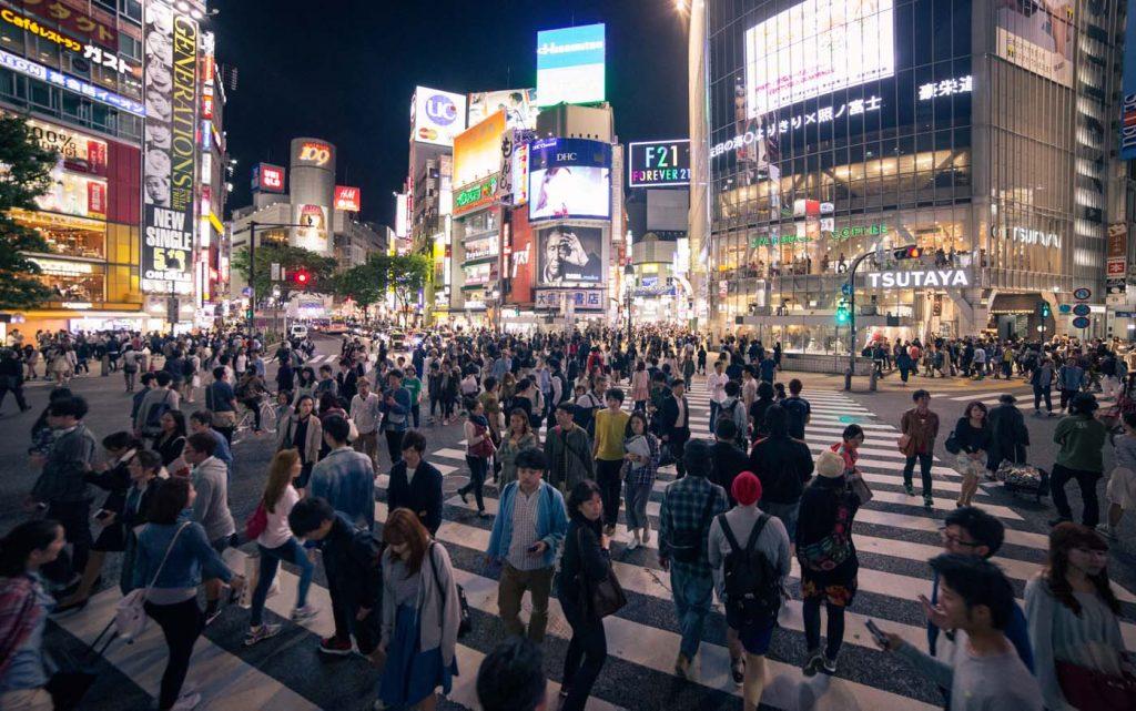 Shibuya - najrušnejšia križovatka na svete