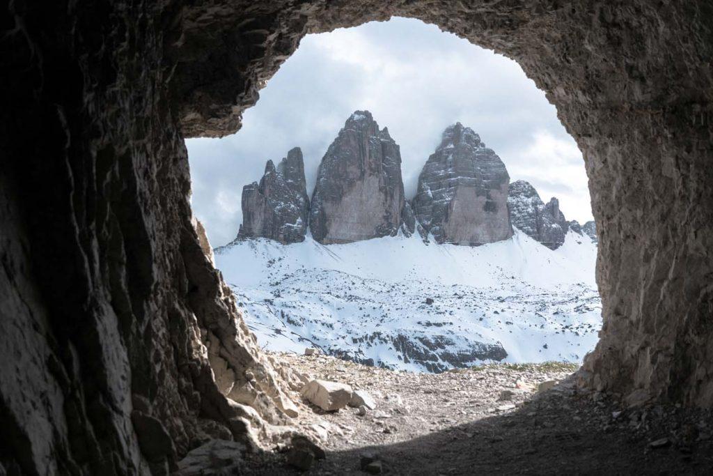 Tunel v Tre Cime