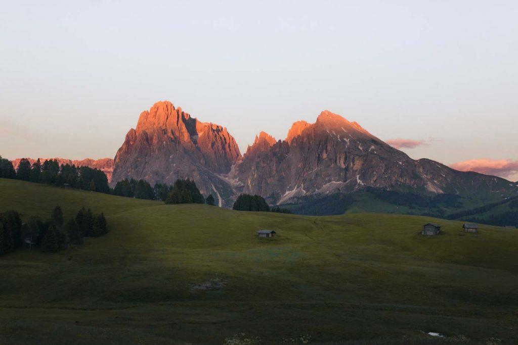 Pohľad na Alpe di Siusi