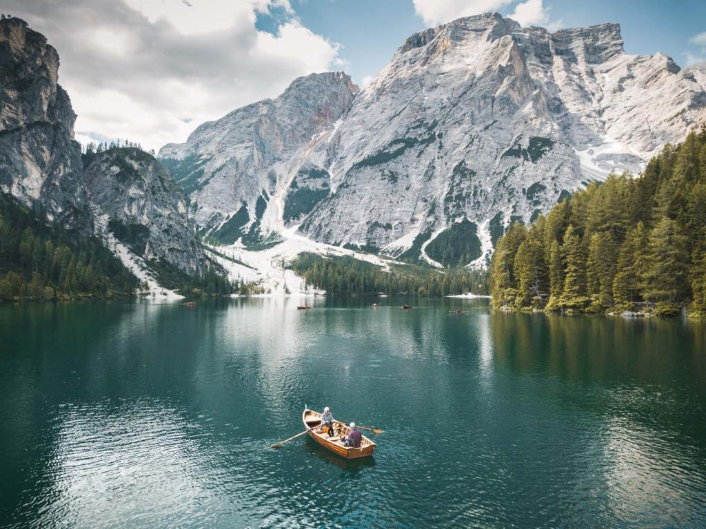 Pohľad na jazero Lago di Braises