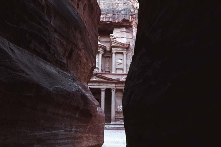Jordánsko - kaňon Siq