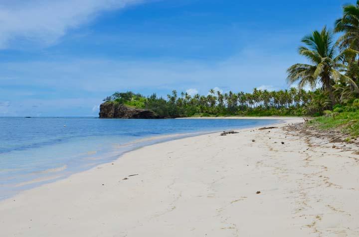 Biela pláž na Fidži