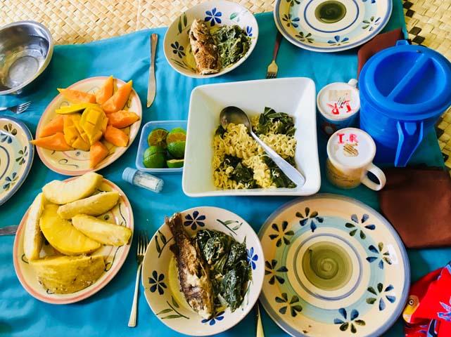 Tradičný obed u domorodcov