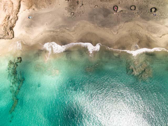 Pláž na Kanárskom ostrove