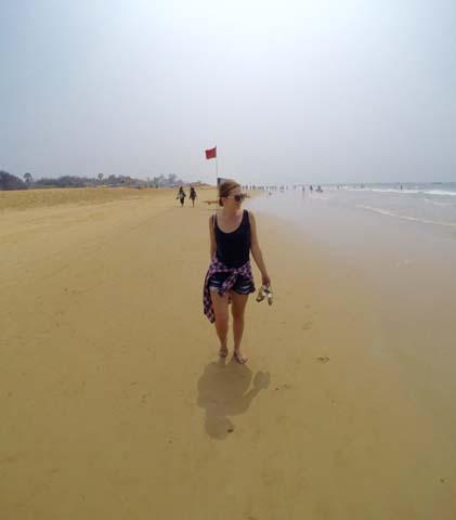 Dlhé pláže na Goa