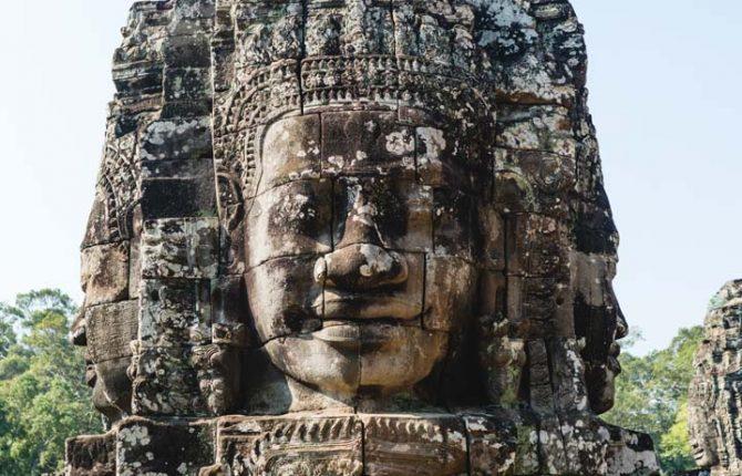 Jeden z chrámov v Angkor Wat - Bayon