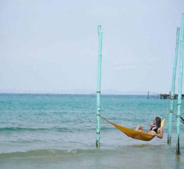 Relax v hojdacej sieti na ostrove Koh Rong