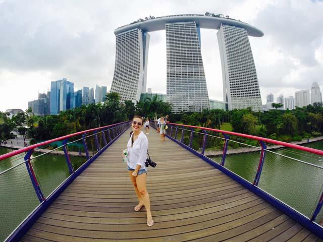 Singapur a Anna Tásler na cestách.