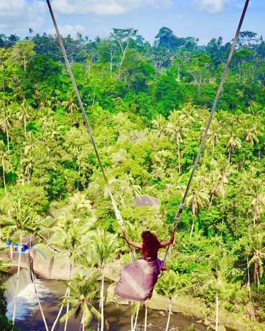 Bali Swing, fotogenetické hojdačky na Bali.