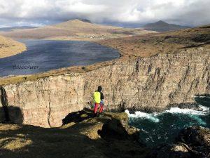 Pohľad na faerské ostrovy.