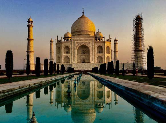 Pohľad na Taj Mahal.