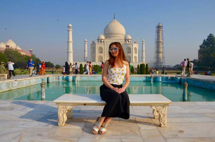Anna Tásler na cestách - Taj Mahal.