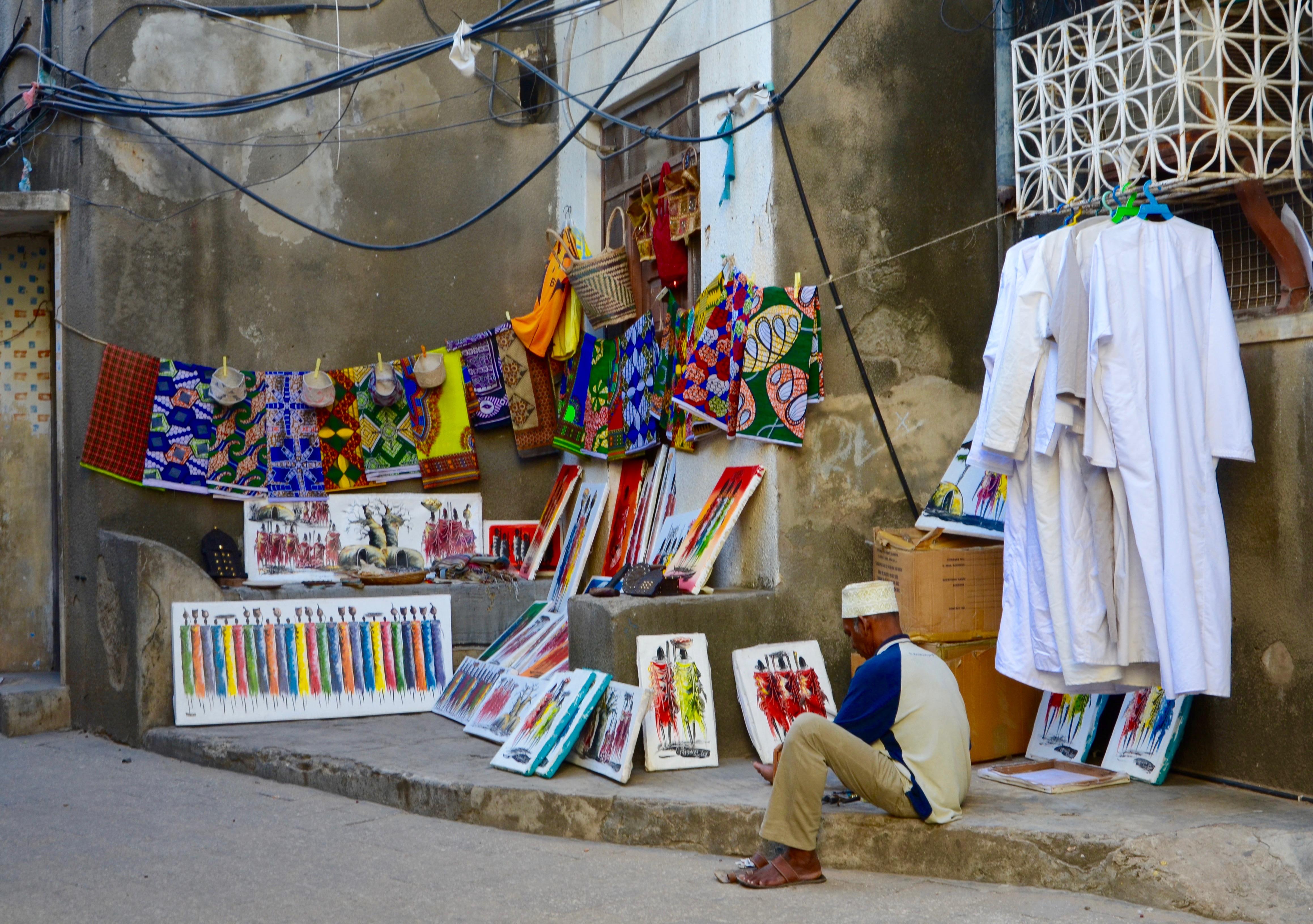 Zanzibar - trh s ručnými výrobkami