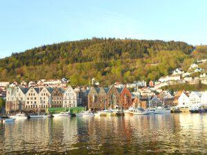 Bergen, druhé najväčšie mesto v Nórsku.