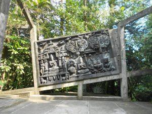 Múzeum Ullen Sentalu sa nachádza asi hodinu jazdy motorkou od Yogyakarty.