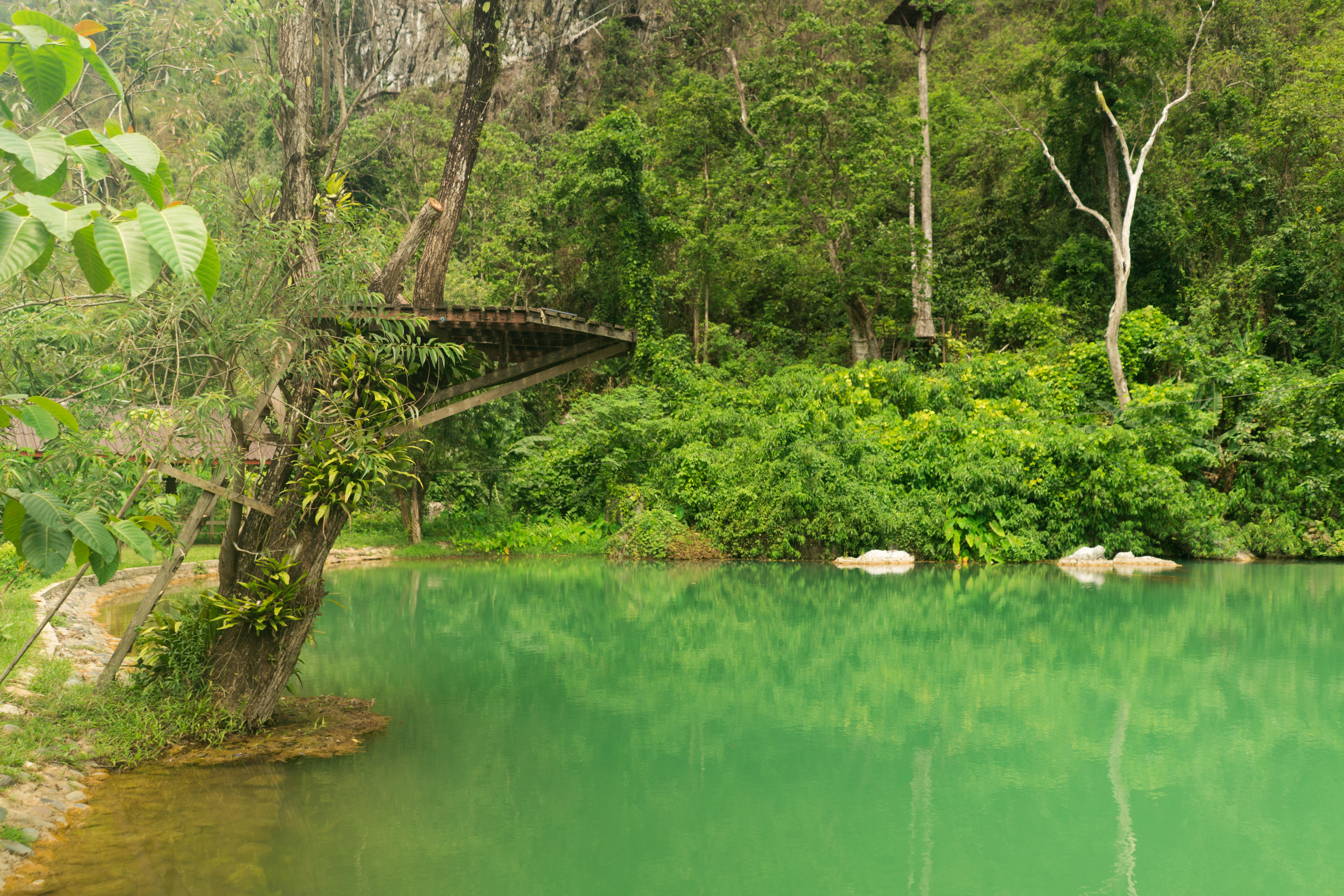 Laos - Prírodné jazierko