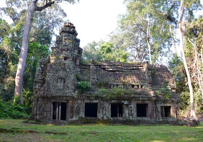 Jeden z najväčších chrámov v oblasti, Preah Kha.