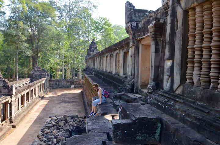 Ta Keo je jedným z najvyšších monumentov v komplexe a momentálne sa rekonštruuje.