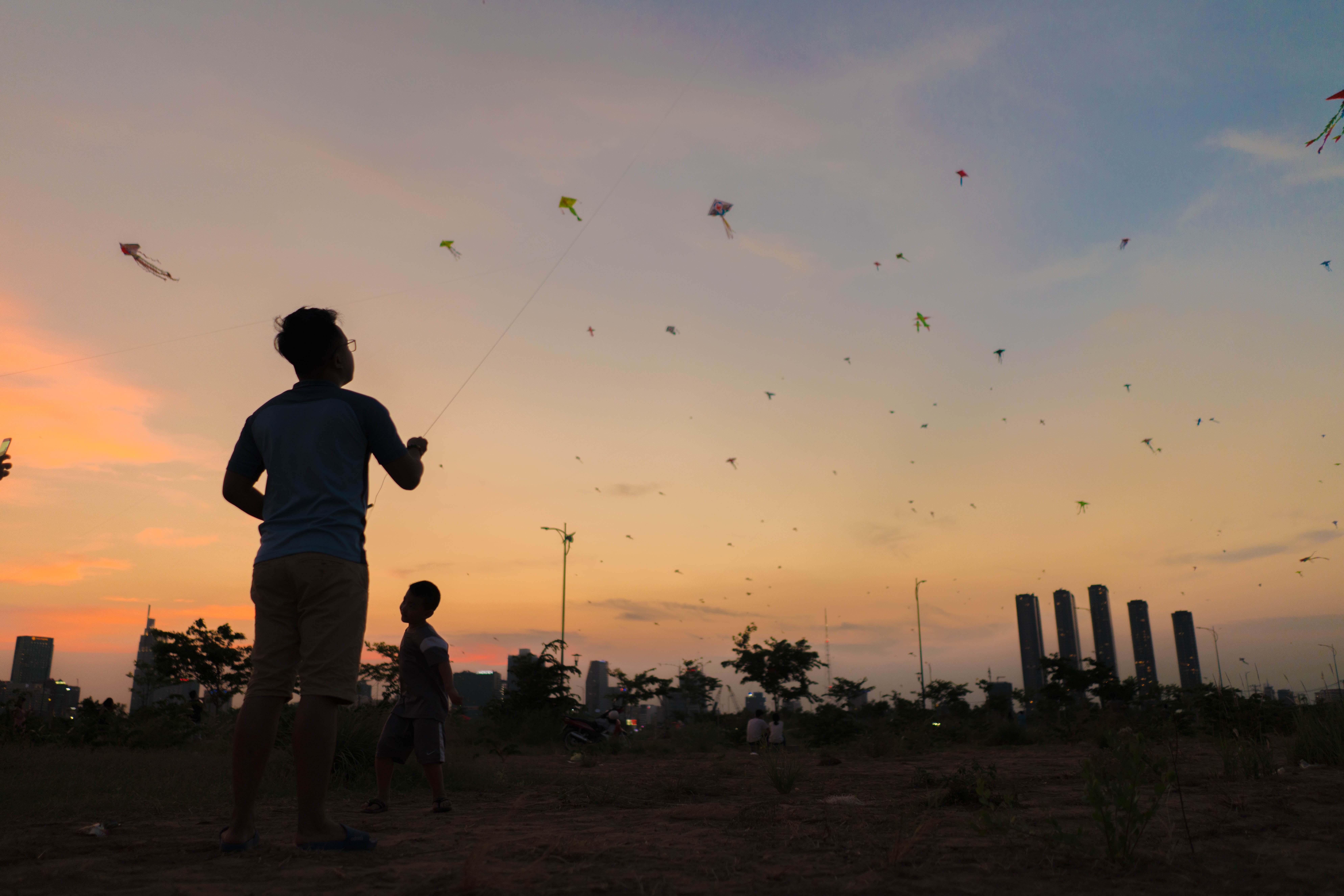 Vietnam - Púšťanie šarkanov