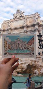 Rím a známa Fontána di Trevi.