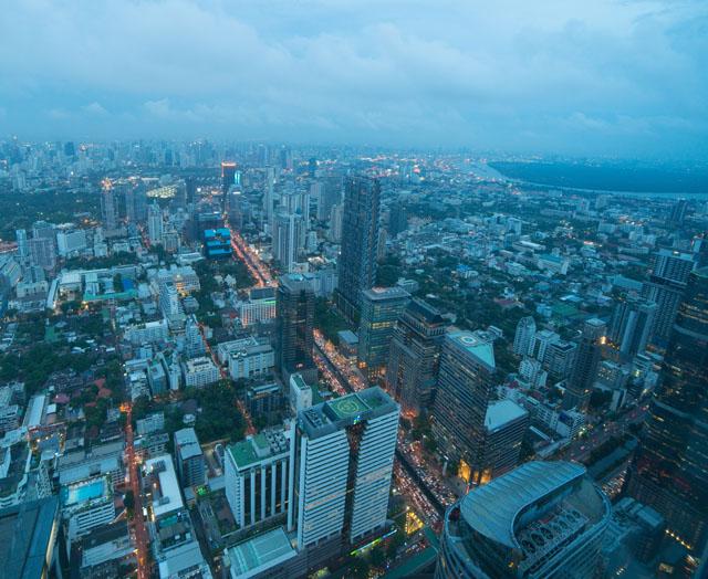 Výhľad na Bangkok