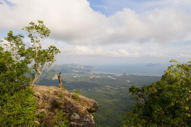 Vrchol hory Hang Nak na Krabi