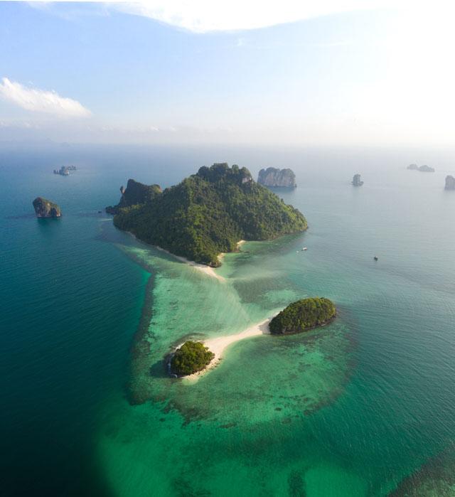 Ostrovy Koh Tup v Thajsku