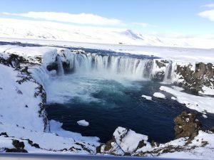 Island: vodopády Goðafoss