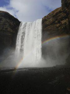 vodopády Stjórnarfoss a Skógafoss na Islande