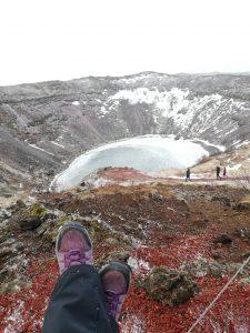 Island: pohľad na kráter Kerid