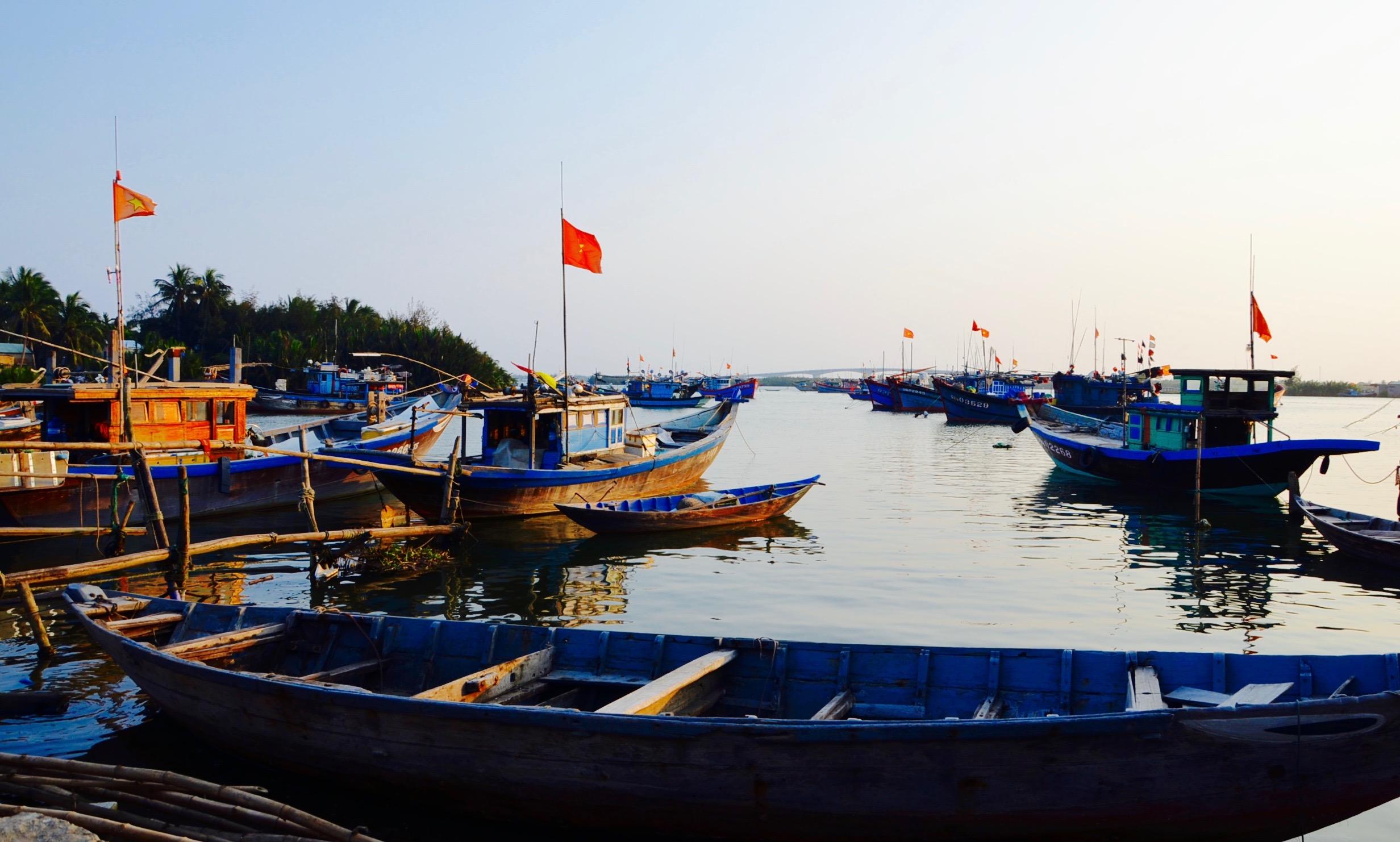 Hoi An: záber na miestnu pláž