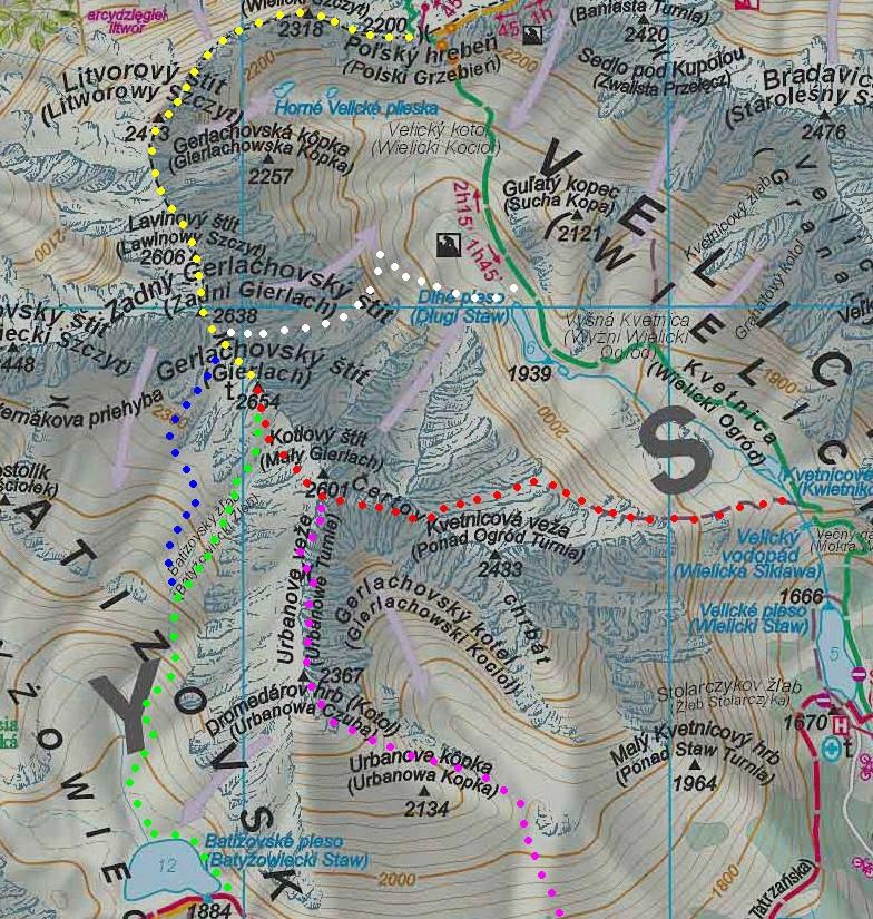Oficiálne výstupové trasy na Gerlachovský štít