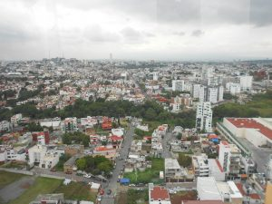 """Výhľad z  """"Puebla eye"""" najväčšieho prenosného pozorovacieho kolesa na svete"""