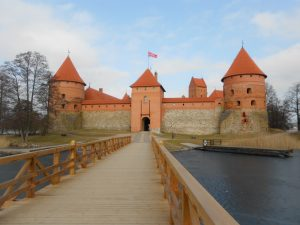 Litva: hrad Trakai