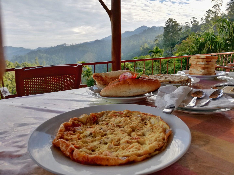 srí lanka: raňajky