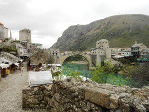 Starý most a rieka Neretva